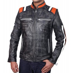 Men's Retro Scorpion III Leather Jacket | Vintage Leather Motorcycle Jacket