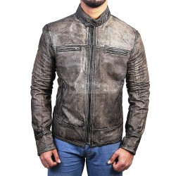 Mens Cafe Racer Jackets | Moto Jackets - Cafe Racer Lambskin Jacket | Biker Leather Jacket
