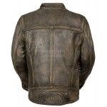 Trendy Look Green Tipple Stitched Cafe Racer Biker Leather Jacket