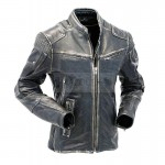Mens Navid Rider Leather Jacket | Cafe Racer Leather Jacket | Mens Leather Jacket
