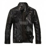 Trending Fashion Jacket Men's Black Faux / PU Leather Jacket