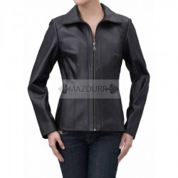 Trendy Look Women Black Leather Jacket
