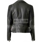 Casual Look Women Biker Leather Jacket