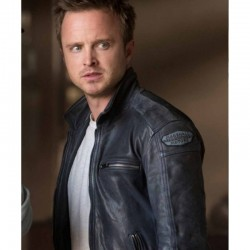 AARON PAUL NEED FOR SPEED TOBEY MARSHALL LEATHER JACKET