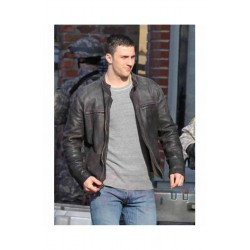 AARON TAYLOR JOHNSON GODZILLA BLACK LEATHER JACKET