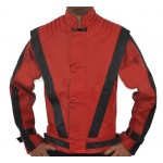 The King of Pop - Michael Jackson 'Cause this is thriller' Red Leather Jacket