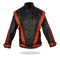 The King of Pop - Michael Jackson 'Cause this is thriller' Black Leather Jacket