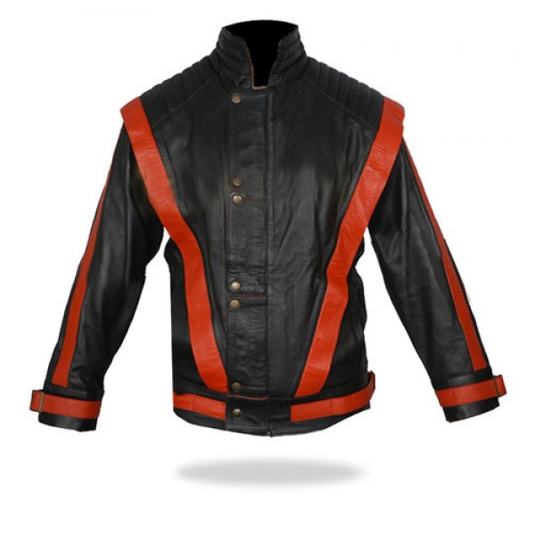 Michael Jackson Cause this is thriller Black Leather Jacket