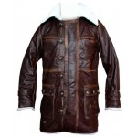 Bane Dark Knight Rises Cow-Hide Replica Leather Coat Costume